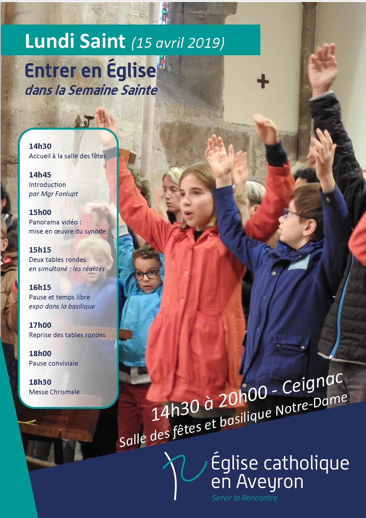 Lundi Saint diocésain à Ceignac, lundi 15 avril 14h30, avec la messe chrismale à 18h30